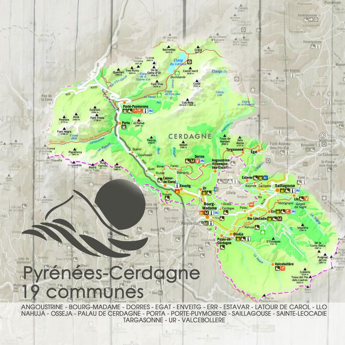 Carte du Territoire Pyrénées-Cerdagne
